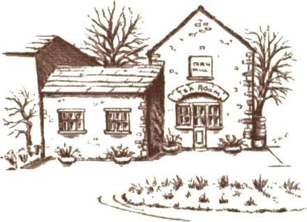 Illustration: Corn Mill Tearoom, Bainbridge in the Yorkshire Dales